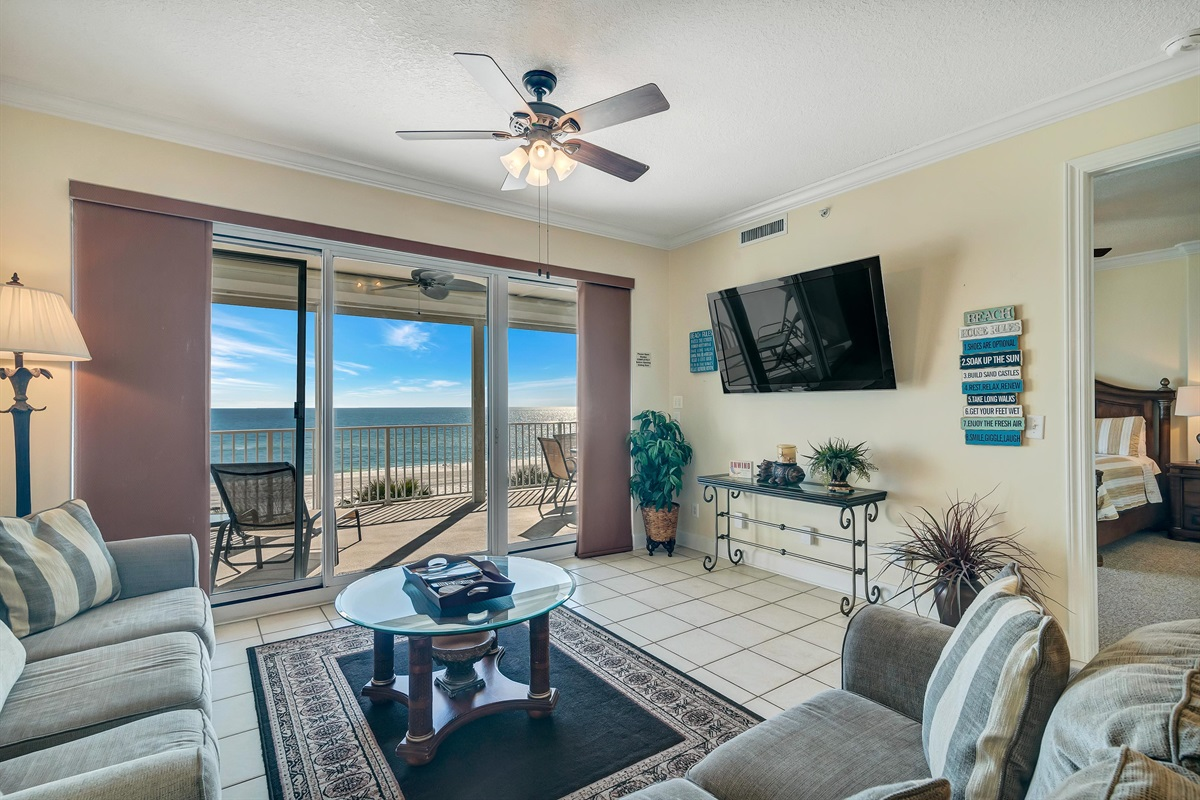 Gulf View and Large Flat Screen TV