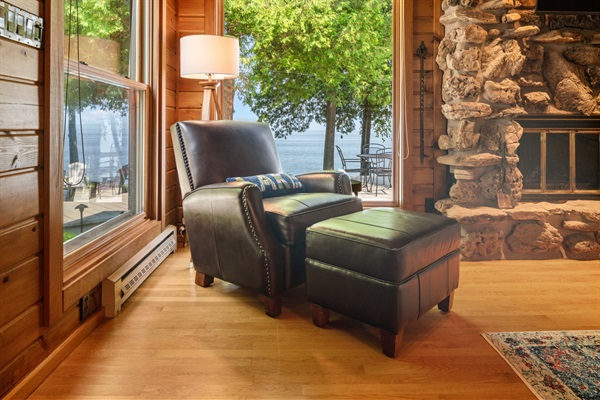 This is the best indoor reading spot at the cottage!