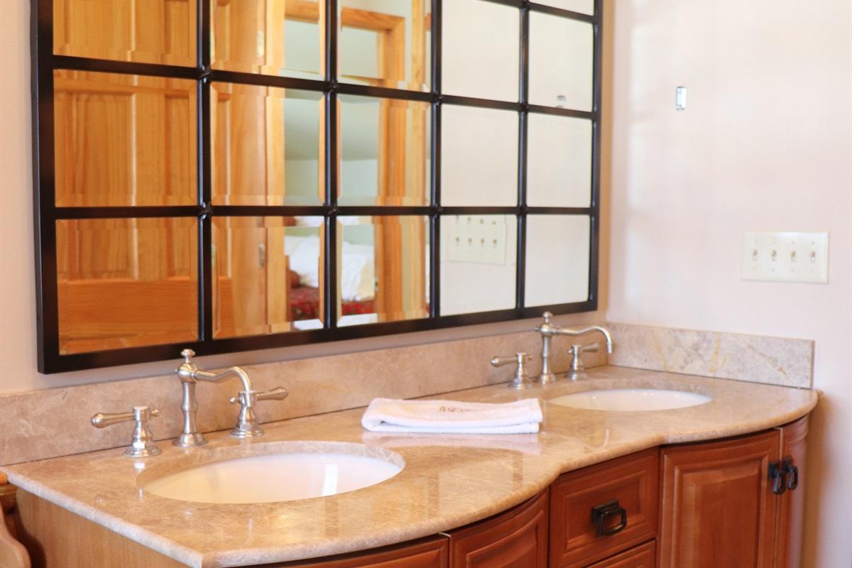2nd floor Master full bathroom, double vanity.