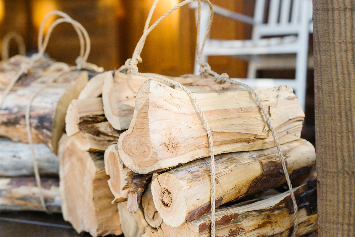 NOW OFFERING PREMIUM FIREWOOD BUNDLES DELIVERED TO YOUR GETAWAY! Each $30 Firewood Bundle includes kindling and fire starter.