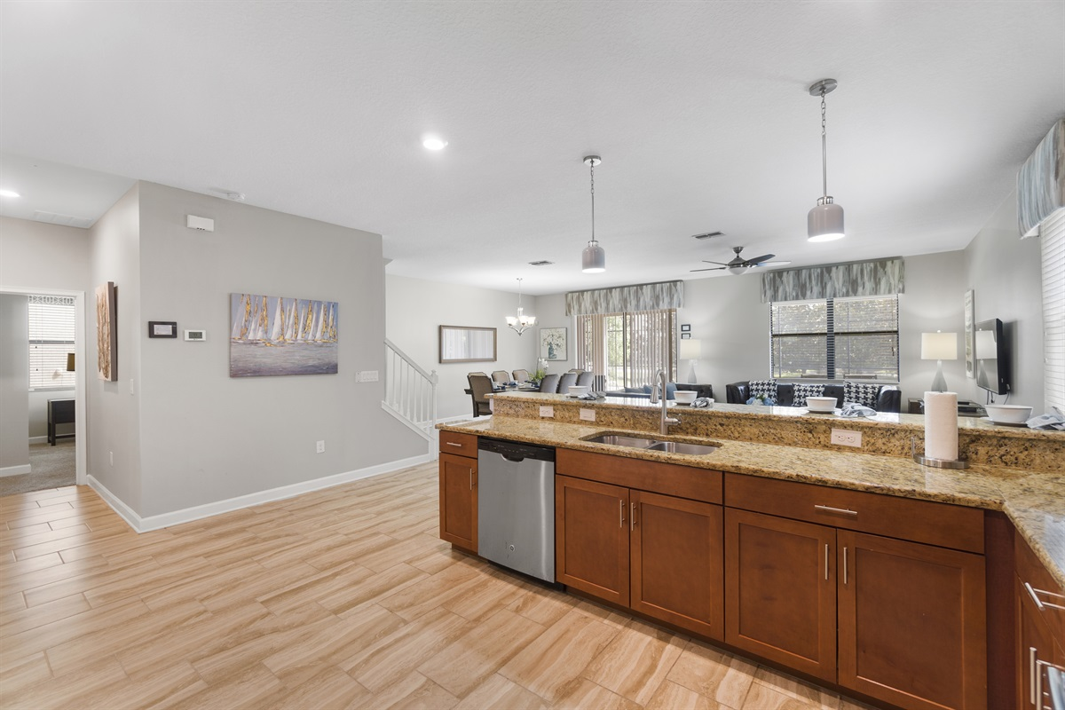 Upscale Granite & Stainless Steel Kitchen