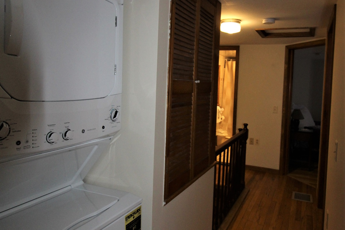 Upstairs laundry in unit.  Also a washer/dryer on the main floor (not pictured)  Get all your laundry done quickly and easily with 2 sets of machines.