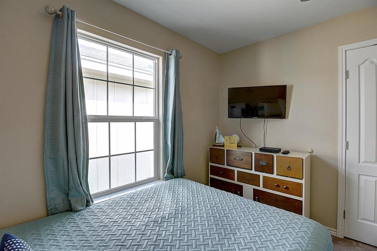 2nd Bedroom:  Flat Screen TV