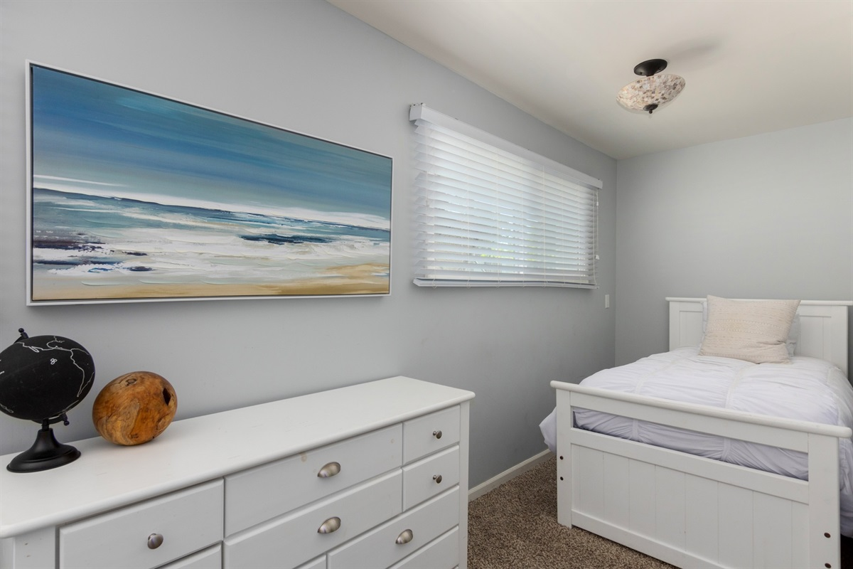bunk room - bunk w/ trundle and additional twin bed