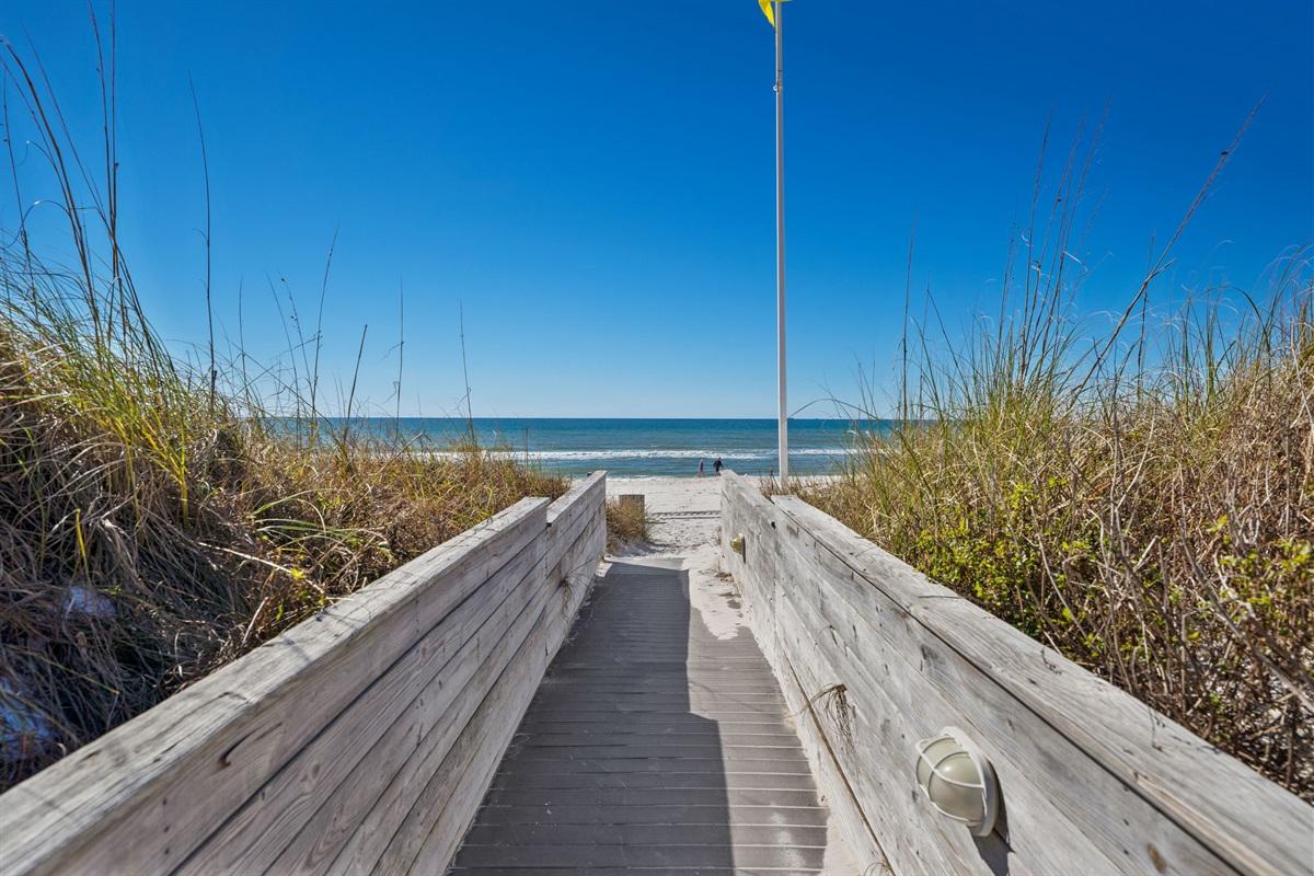 Beach access to our 1500 feet of private beach