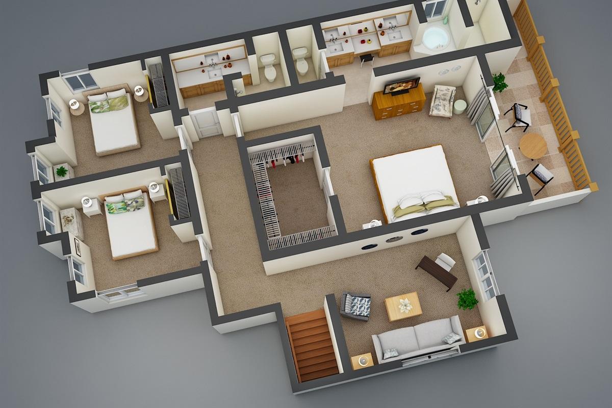2nd Floor 3D Model