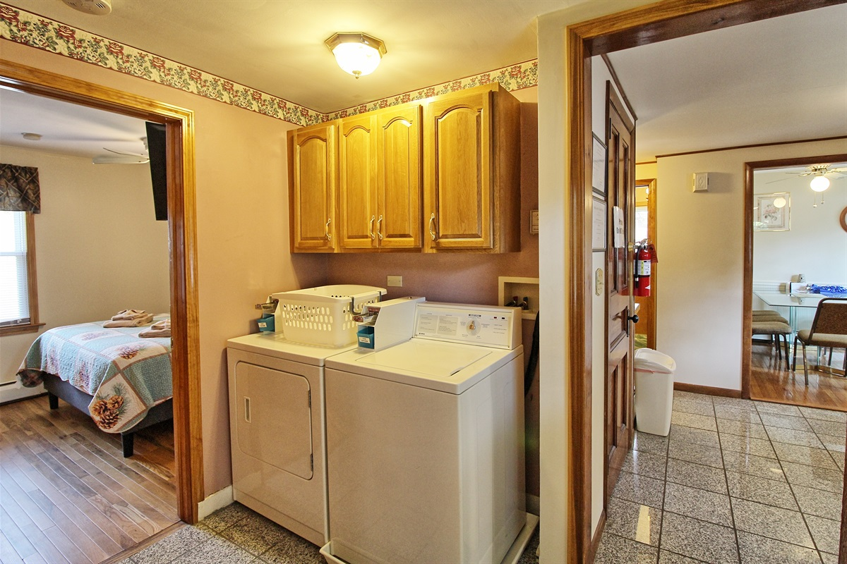 On premises laundry room (yes, they are coin op, but we provide the quarters, so laundry is FREE for our guests!)