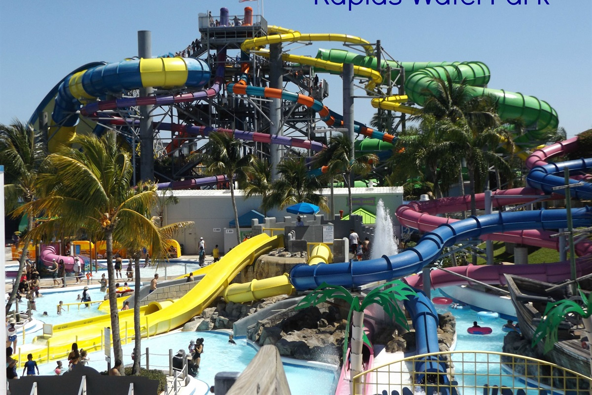 Rapids Water Park les than a mile from the house