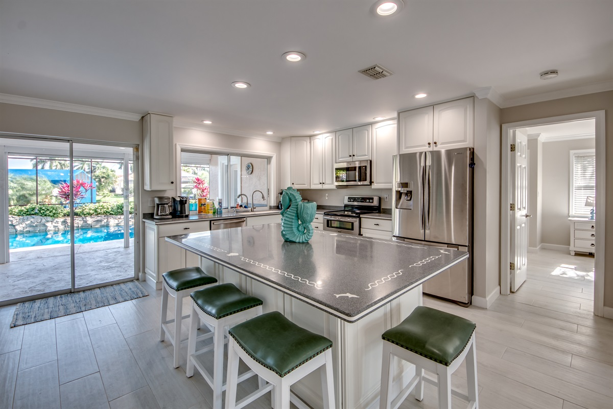 Open kitchen with more seating