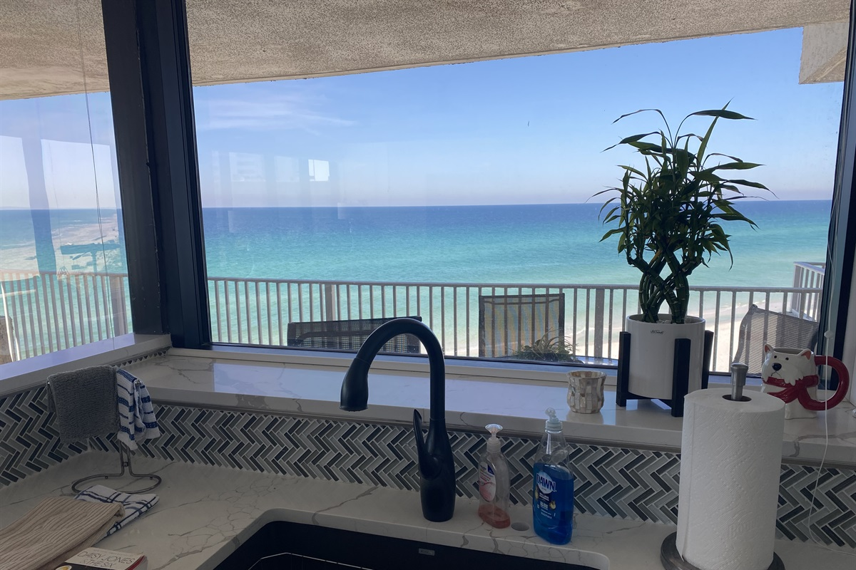Wash dishes to this view!!