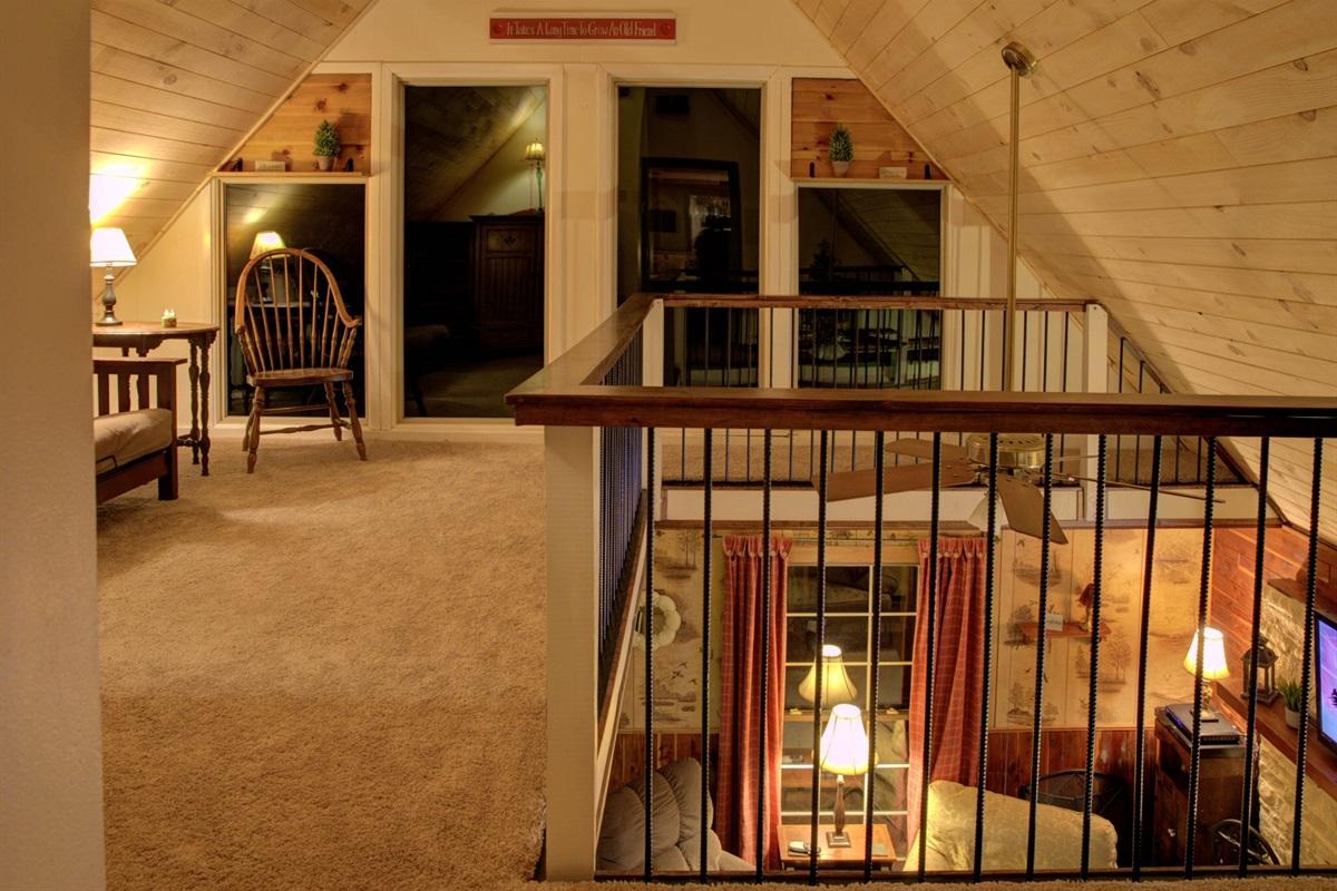 Cabin Loft at Night
