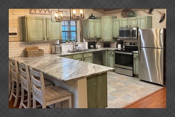 Leathered granite countertops