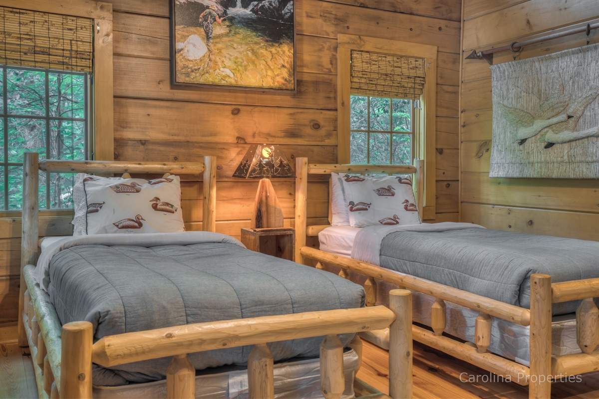 Additional view of bedroom 2 with two twin size beds