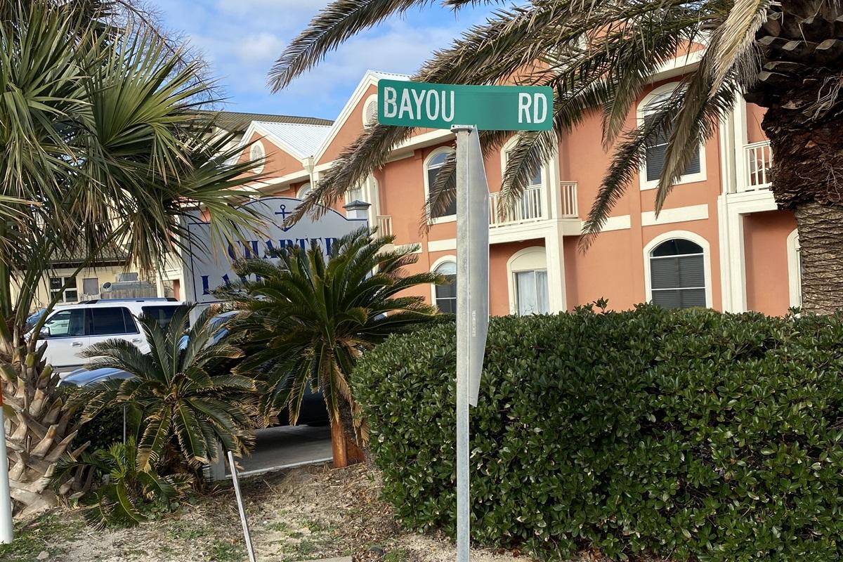 Bayou Road off Perdido Beach Boulevard