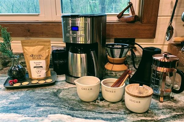 Fresh roasted organic coffee and tea