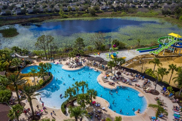 Resort pool area and waterpark -- included with your stay.