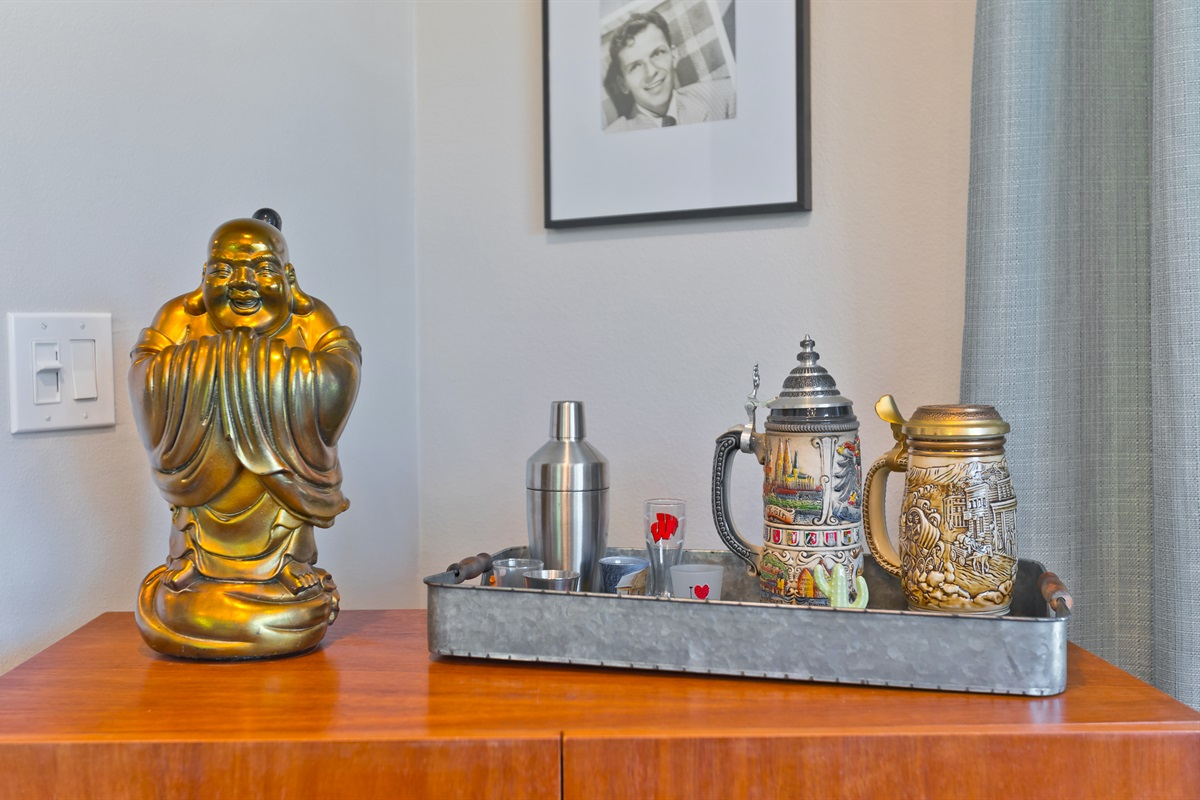 "Beer Buddha says, ""BYOB""."