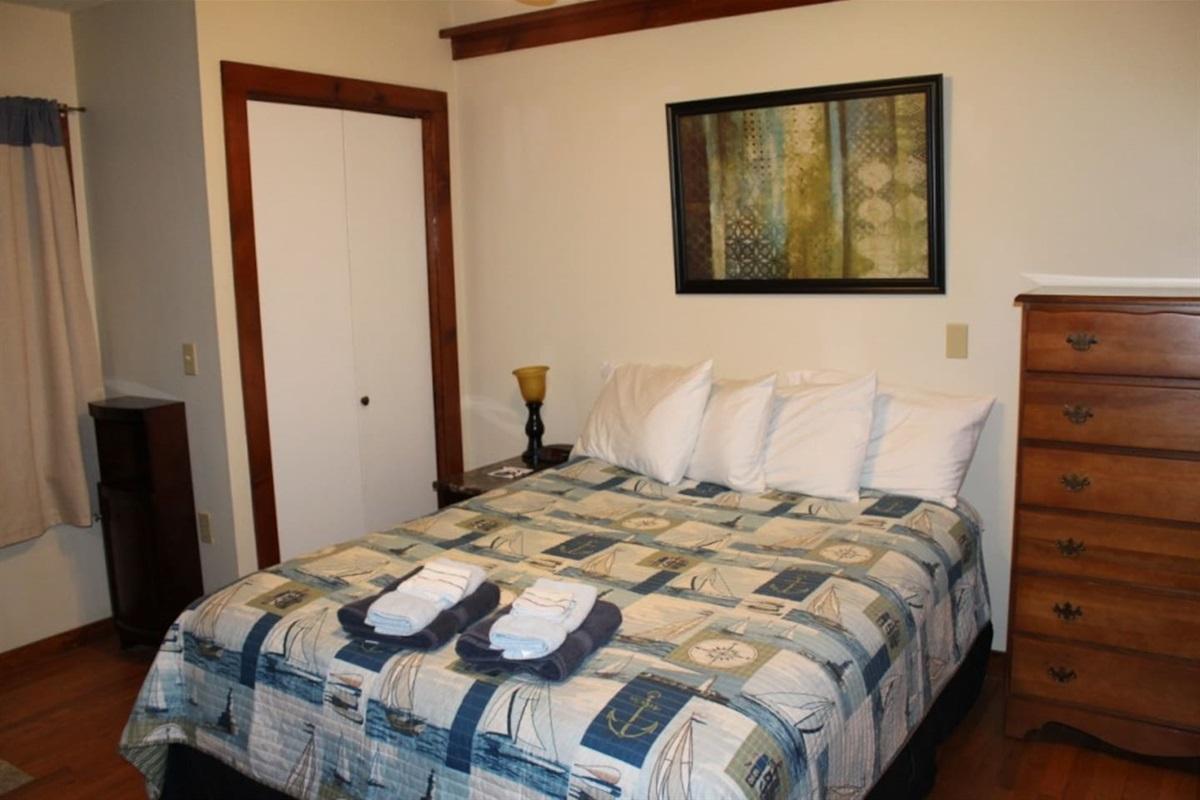 Bedroom #4 - main level, with queen bed