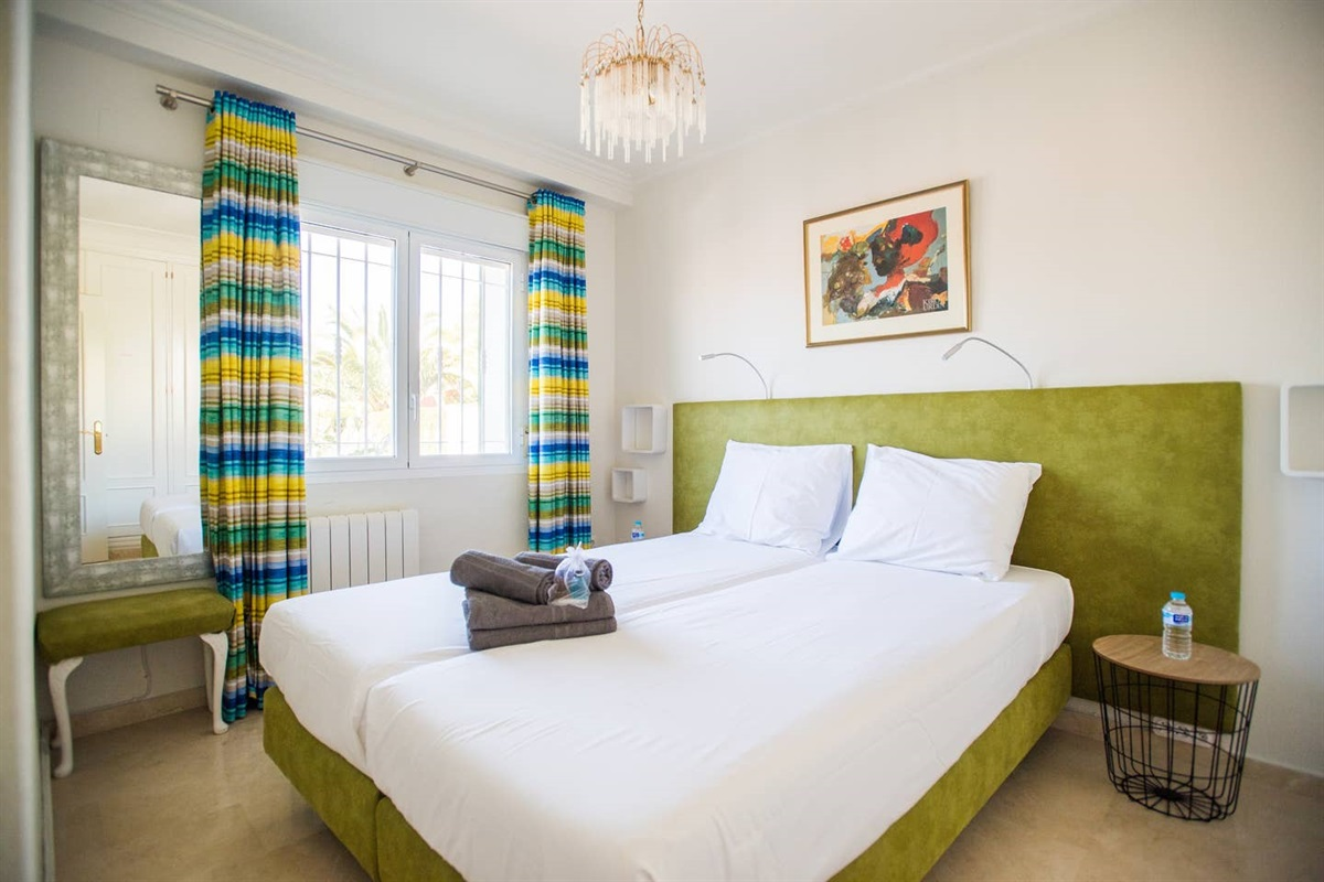 Bedroom 2 in the villa