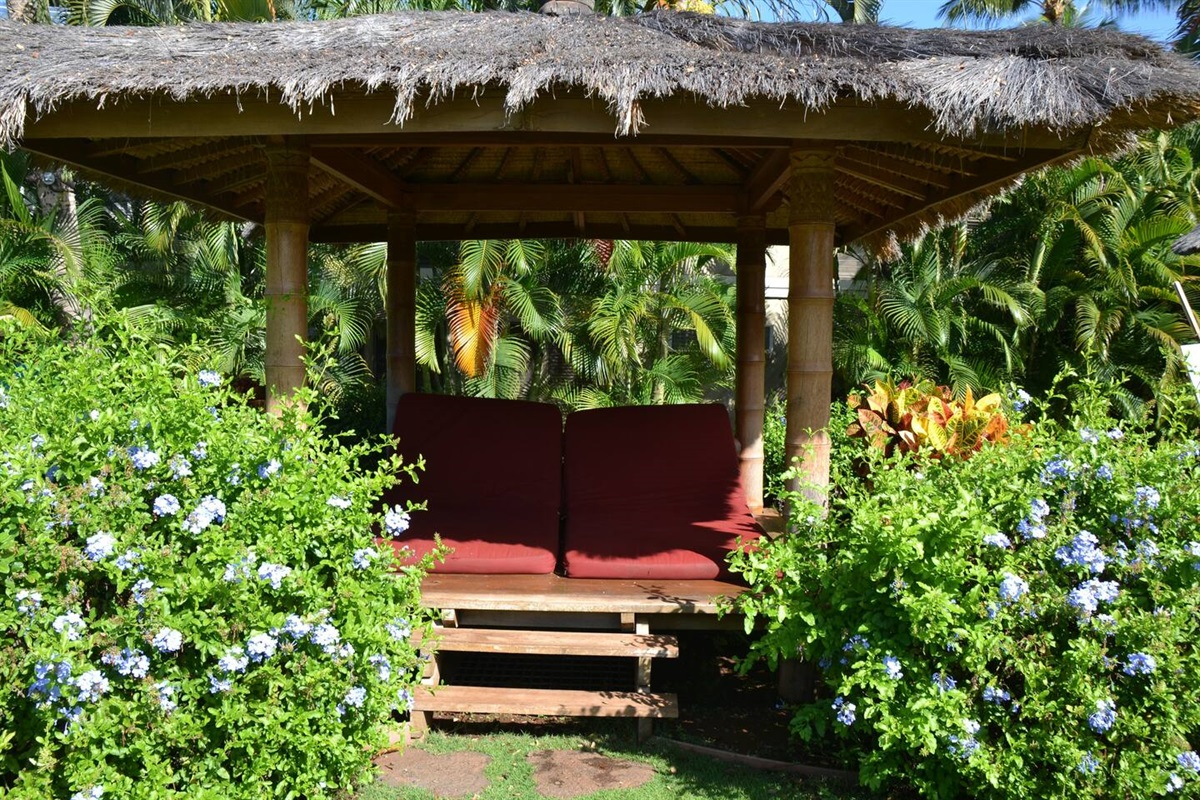 Enjoy a relaxing afternoon poolside in one of the private cabanas