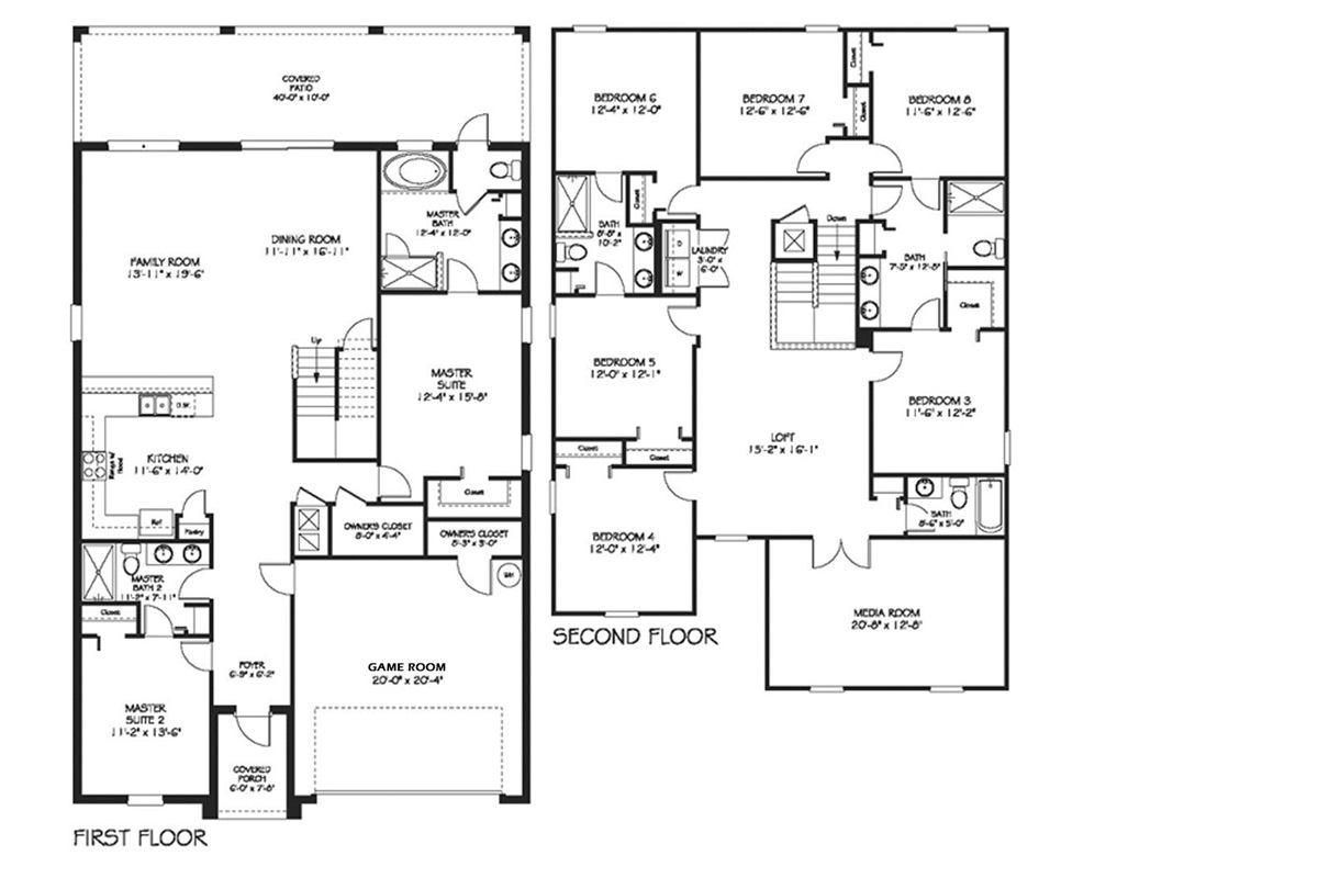 Floor Plan (Following bedrooms are labeled per the floor plan)
