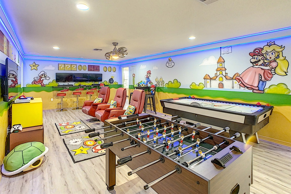 Spectacular Game Room - Foosball And Air Hockey