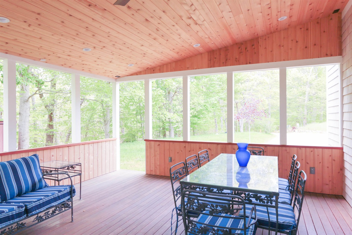 Covered Porch with Seating and Dining