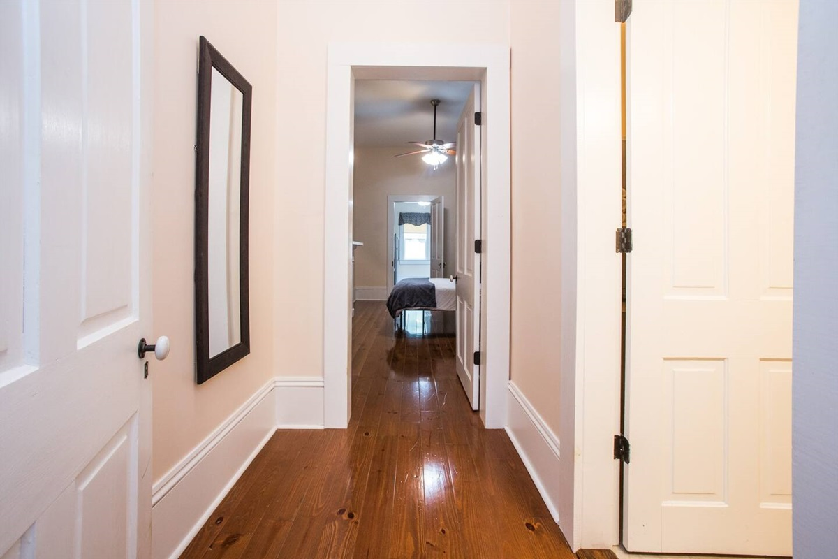 Hall between rooms 2 & 3 and bathroom.