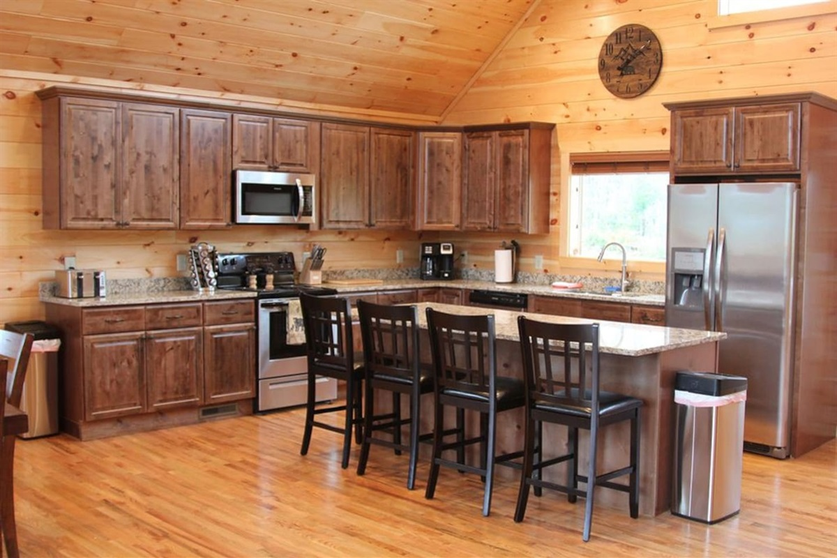 Fully stocked kitchen... you will think you are in your own home