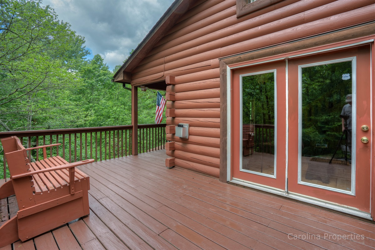 View of the back deck