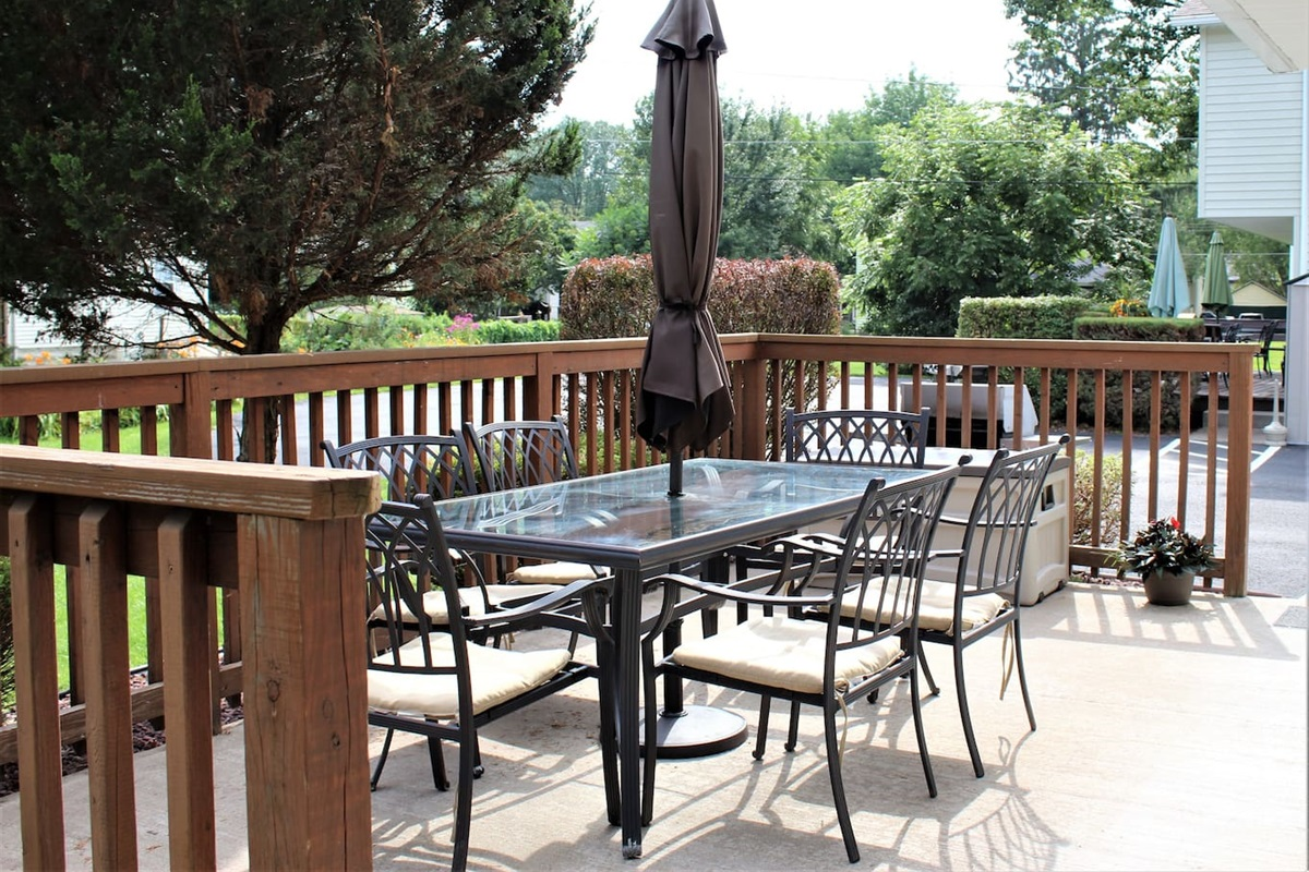 Outdoor deck for dining or relaxing