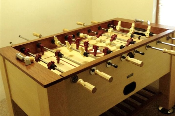 Game room with foosball table