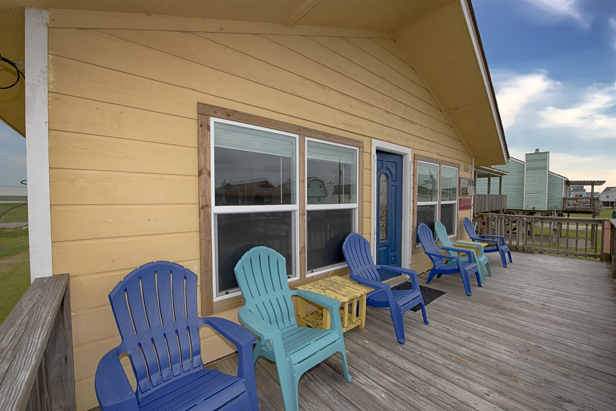 Lots of seating on the large deck