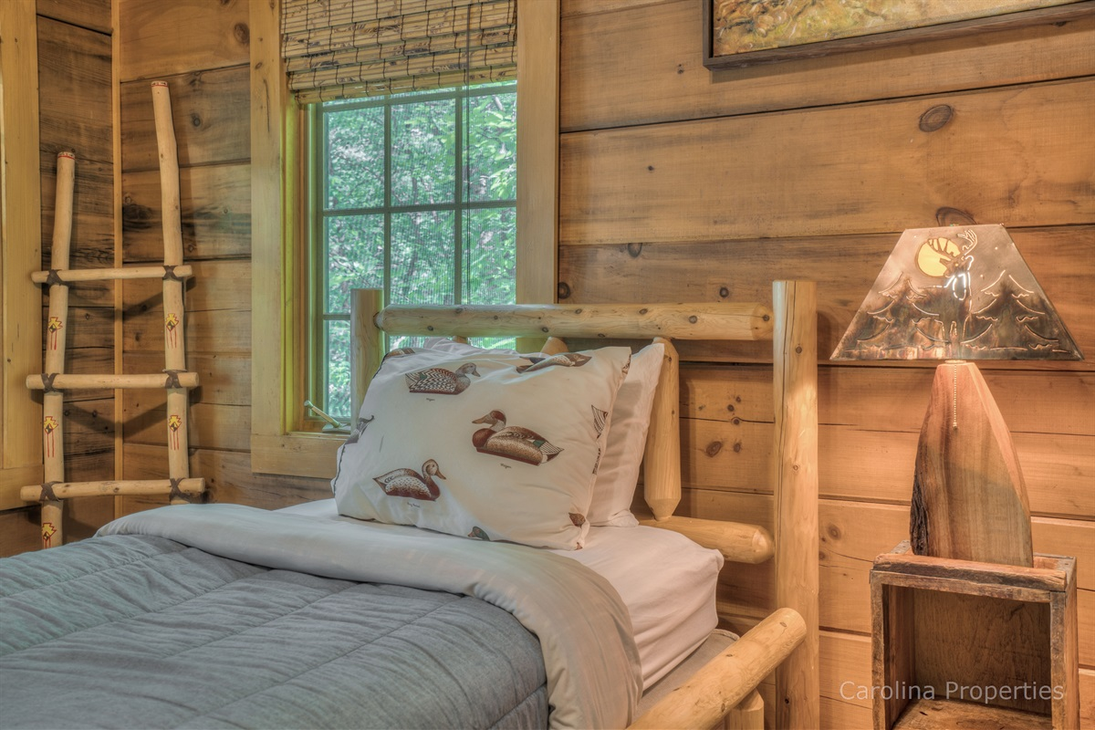 Bedroom 2 of cabin with two twin size beds
