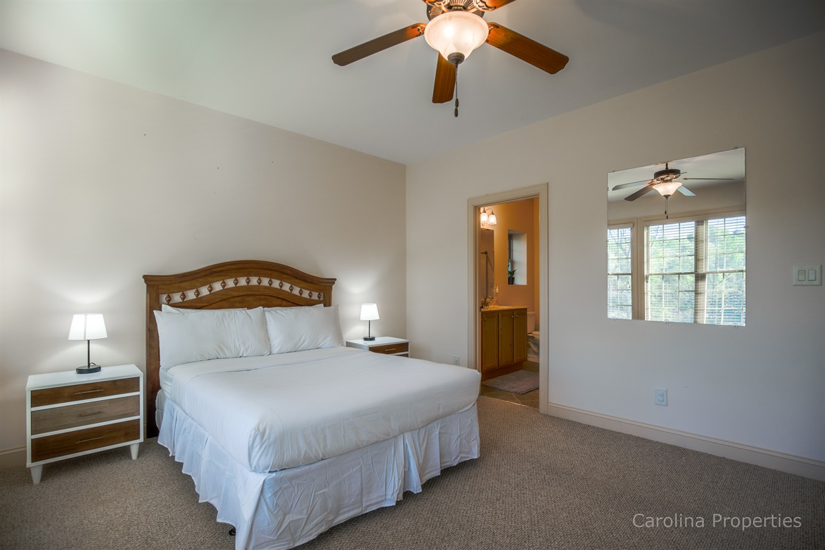 Additional view of lower level private room with queen size bed