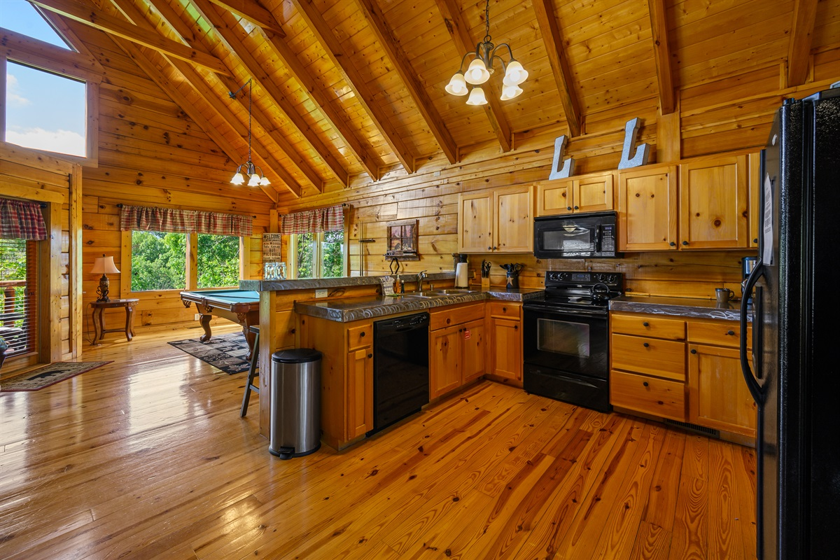 Lots of space to prepare meals and hangout at the breakfast bar.