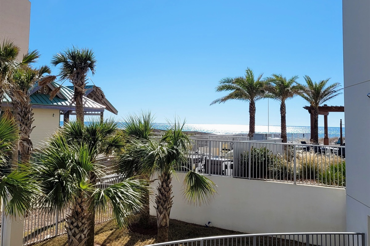 Wide View of Blu #100 Balcony!