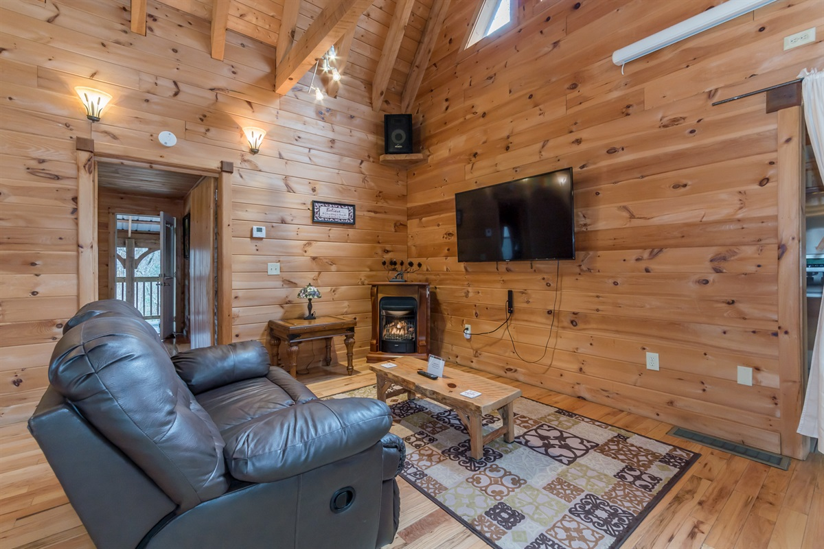 Smart TV and Comfy Reclining Loveseat