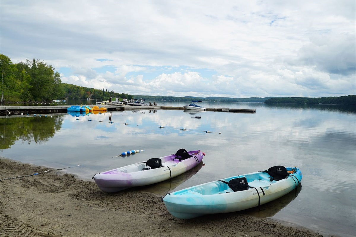 Kayak rentals at Algonquin Outfitters in Huntsville
