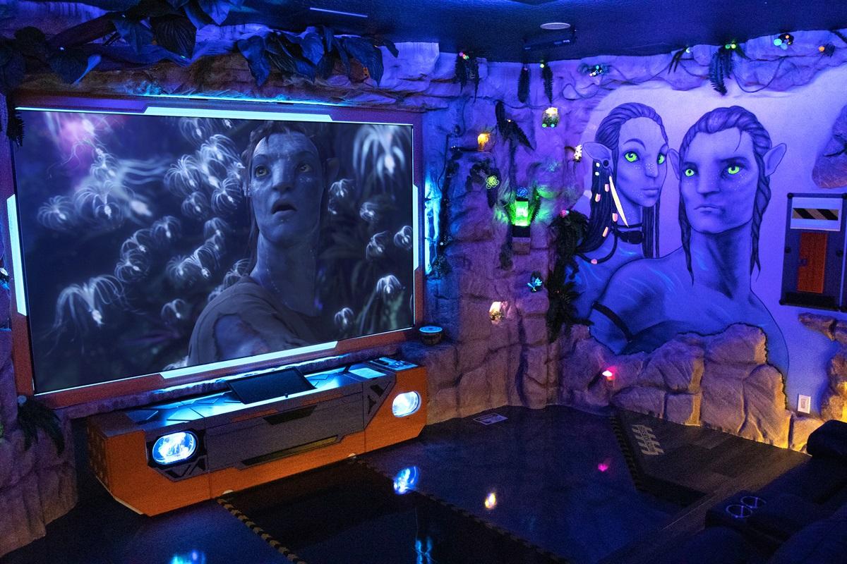 """Movie Theater - 120"""" Screen - Surround Sound"""