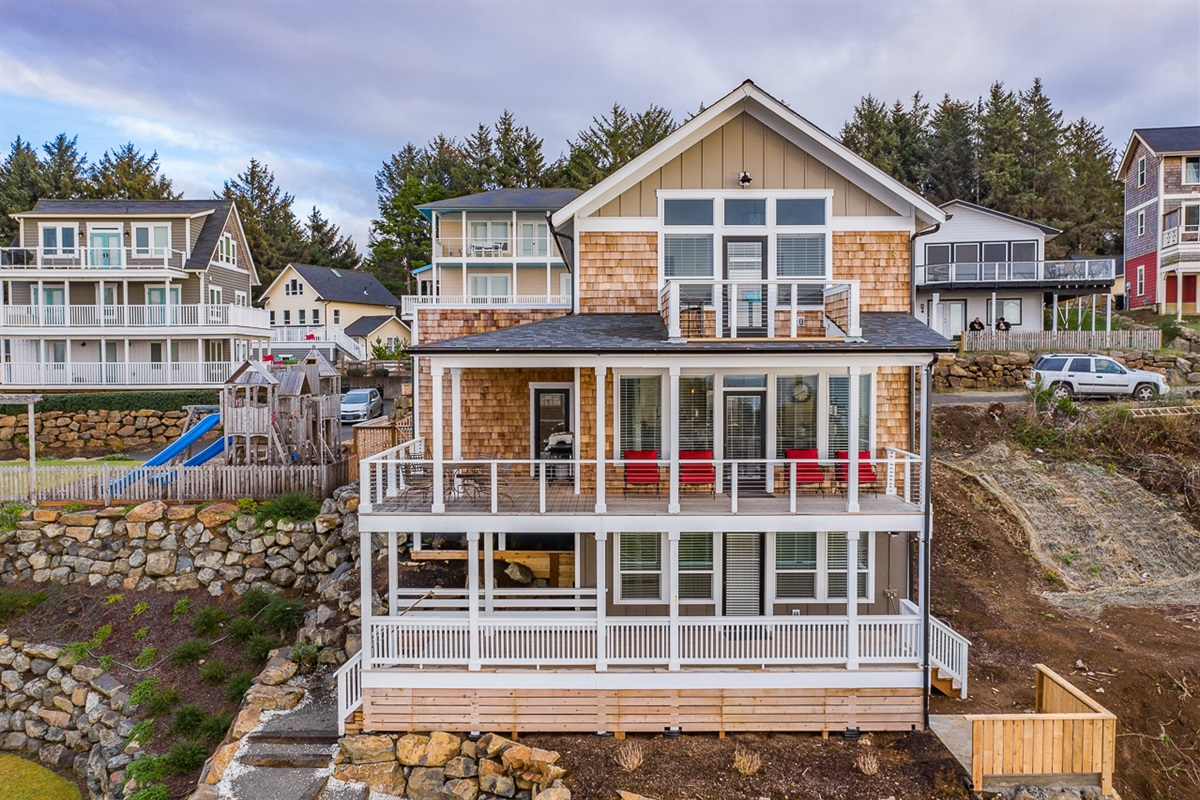 Enjoy all three levels of this lovely home on your next beach getaway.