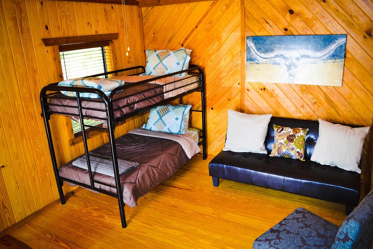 Upper cabin, bedroom #1.