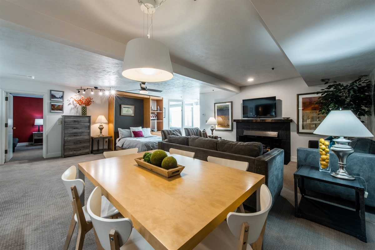 Enjoy having plenty of space, even when beds are made. Dining area seating area, mud room area, 4 sleeping 'areas'.