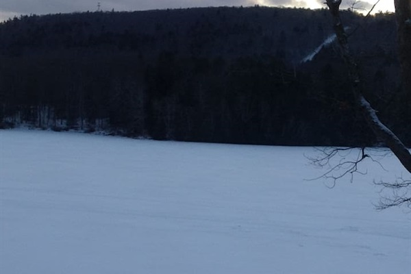 Thinking about a winter getaway?  You can ice skate or go ice fishing on the lake!
