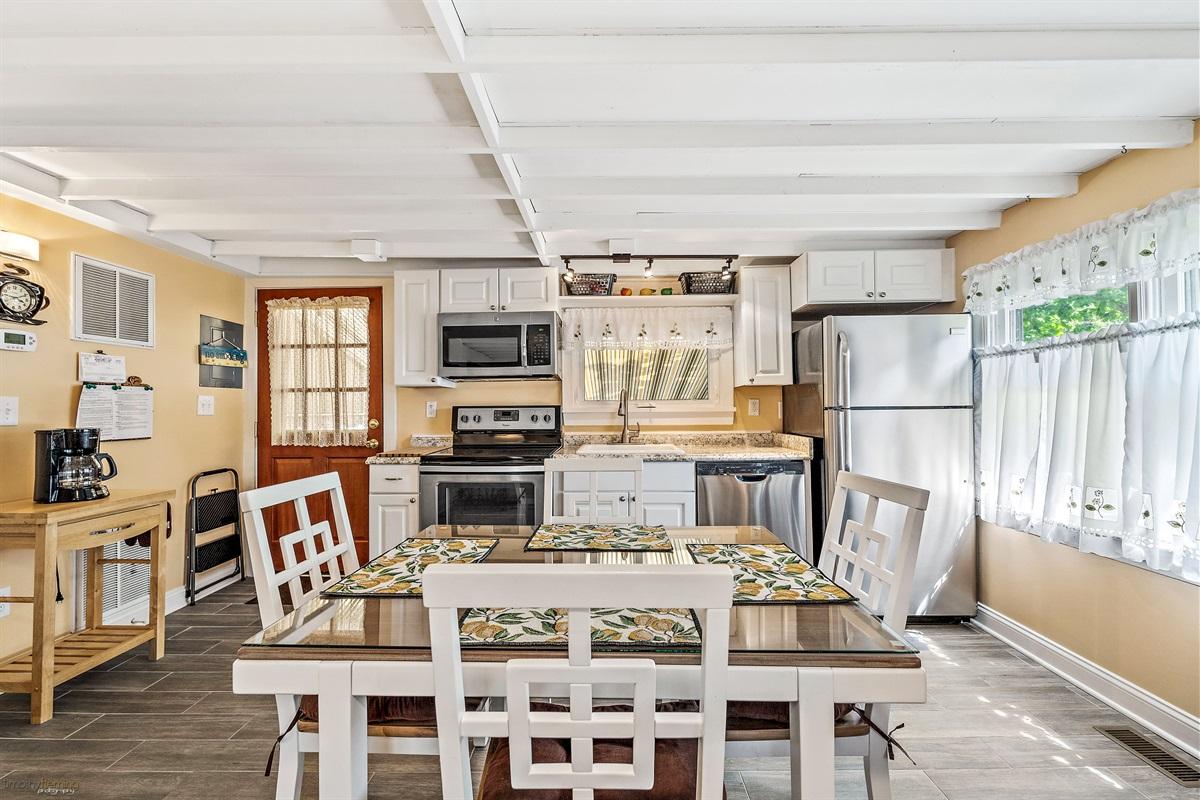 open concept living/kitchen area