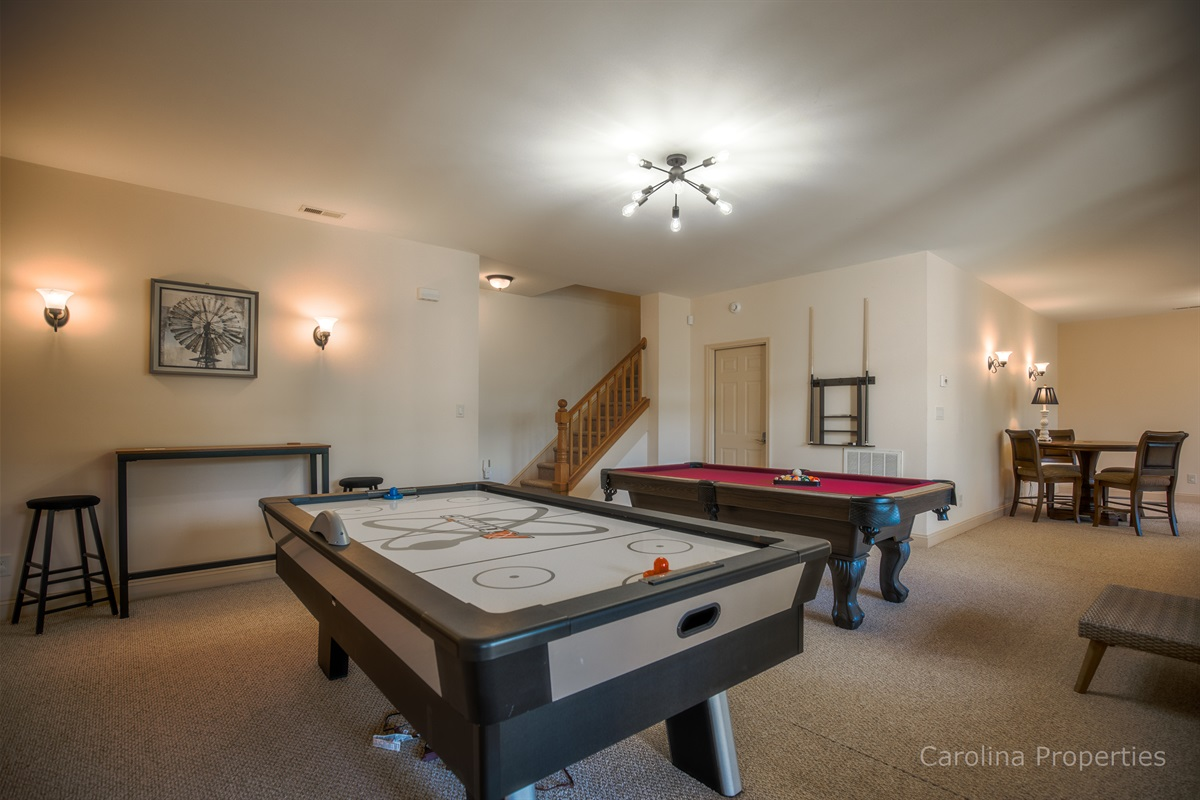 Lower level game room for fun family time