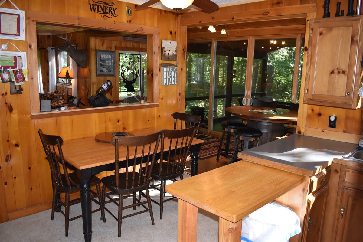 Knotty Pine Throughout.