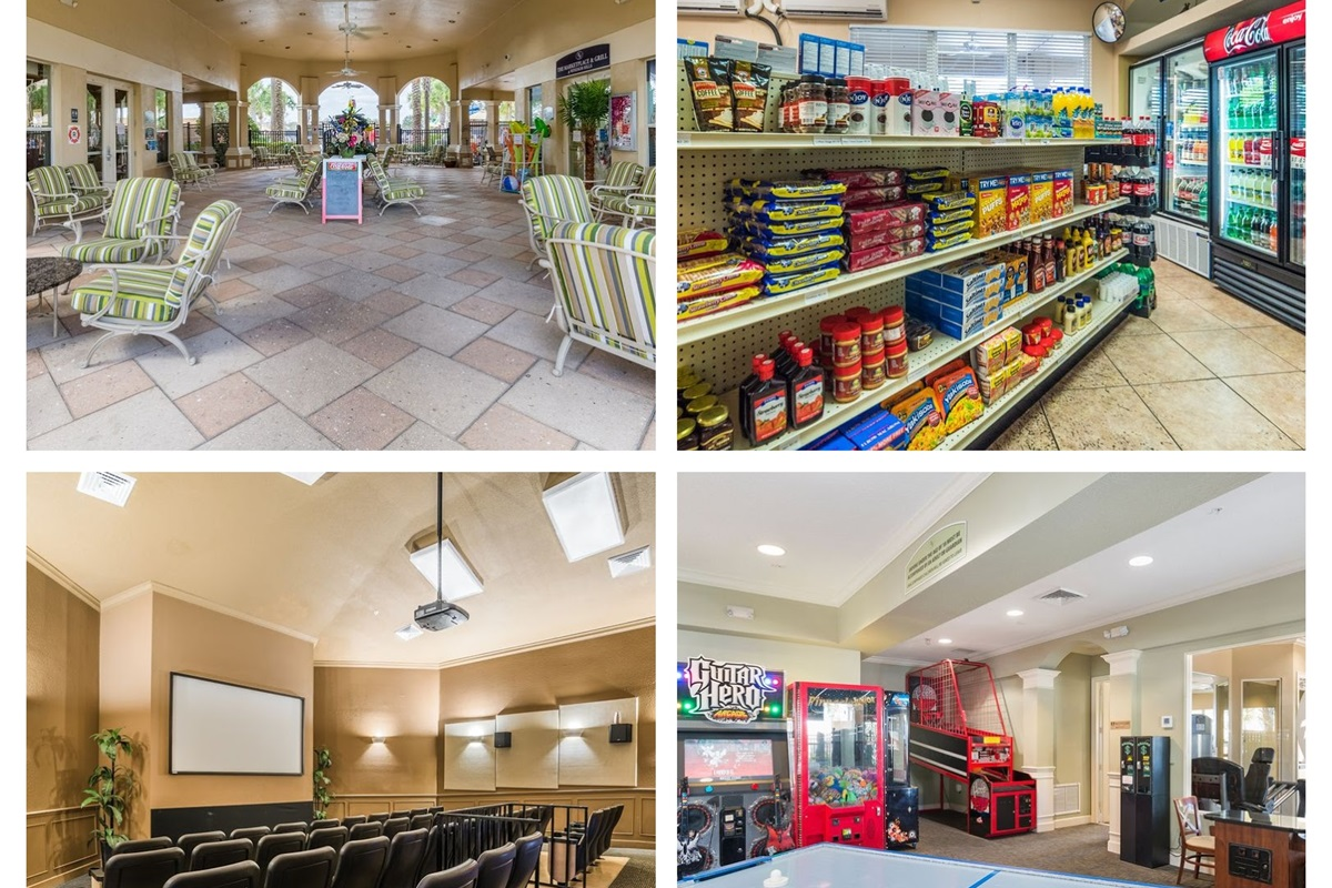 The community center features a marketplace, theater, arcade and a breezeway for sitting.