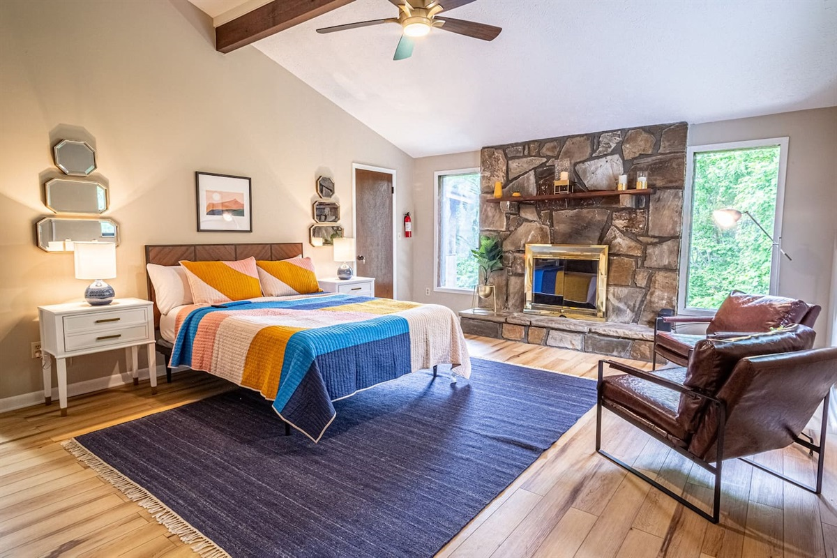 Master bedoom has its own fireplace