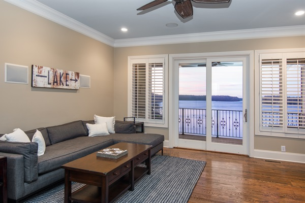 Rooms with a view just keep going! Take in the sunset from our family room or go out on the deck!
